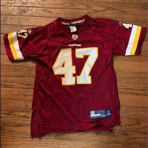 Redskins NFL Reebok Chris Cooley #47 Jersey M